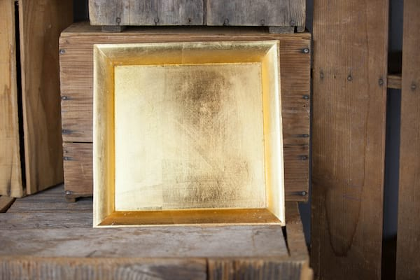 Tray - Gold Square Raised Edge