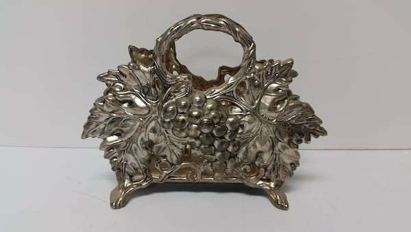 Silver - Napkin Holder Grape Design