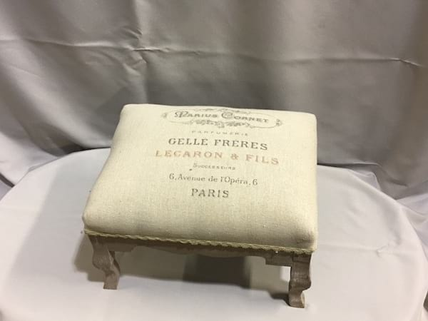 Stool - French Linen Foot