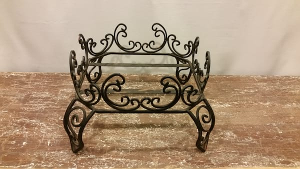 Beverage Dispenser Riser - Wrought Iron Curly