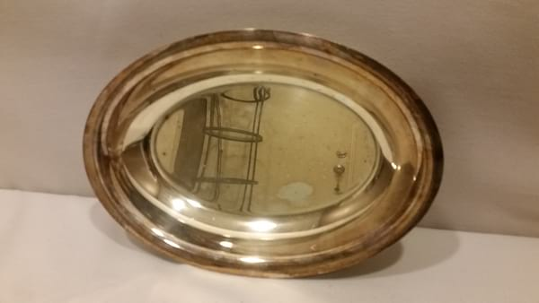 Tray - Silver Oval Bowl Two Handle
