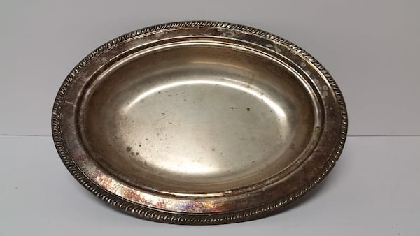 Tray - Silver Oval Bowl
