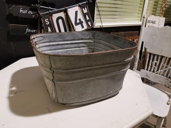 Tub - Square Galvanized