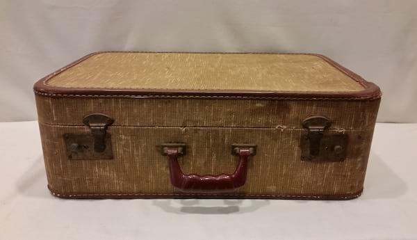 Suitcase - Maddie Canvas w/Pink Liner