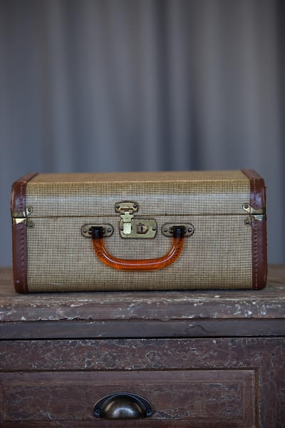 Suitcase - Brown Canvas Small