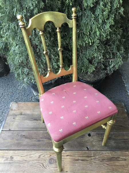 Chair - Gold w/Red Seat