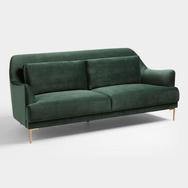 Couch - Somara Green Velvet