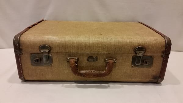 Suitcase - Brown Canvas Large