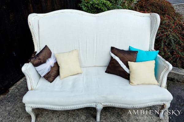 Couch - Linen Loveseat