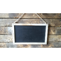 Chalkboard - Hanging Natural Wood Frame