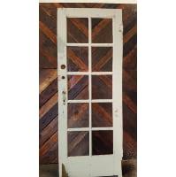 Door - Old White 10 Pane Window