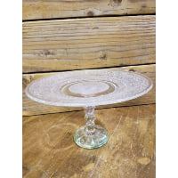 Pedestal - Cut Glass Fleur de Lis