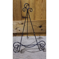 Easel - Black Swirl and Swirl Foot Tabletop