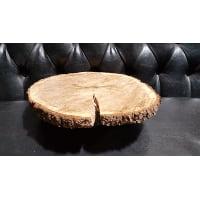Pedestal - Log Round Split 16.5