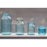 Mason Jars - Blue quart