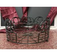 Plate Holder - Large Black Metal Swirl
