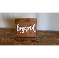 Sign - Reserved Dark Stained Square