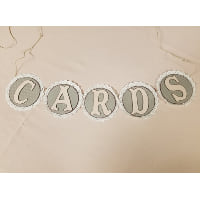 Sign - Cards Blush Lace banner