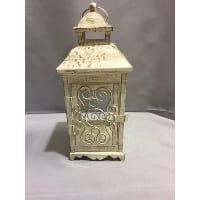 Lantern -  Large Creamy White Scroll Side