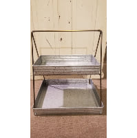 Tray - Two Tier Galvanized Rectangle