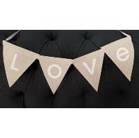 Bunting - Love Canvas