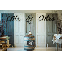 Sign - Black MR & MRS Giant letters