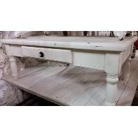 Coffee Table - Knob Drawer White