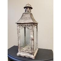 Lantern - Daisy Grey Filagre Corners