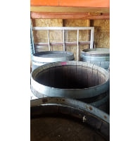 Wine Barrel - Open top