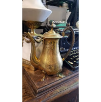 Teapot - Gold with horn handle