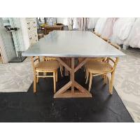 Table - Metal w/Wood Legs