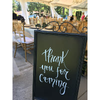 Chalkboard - Easel Double Sided Scroll Top