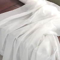 Drape - sheer white - 22 ft