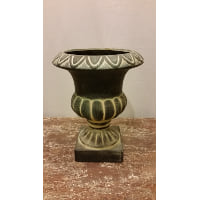 Planter - Urn Black Stone Look Mini