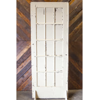 Door - White Painted 15 Pane