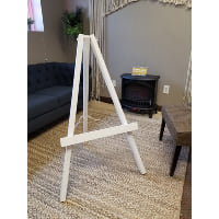 Easel - White wood 4'