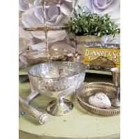 Vase - Mercury Pedestal Leaf Bowl