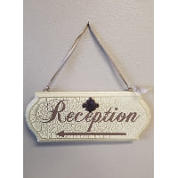 Sign - Reception  cream, brown w/ pearls