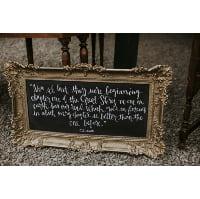 Chalkboard - CS Lewis Darcy gold