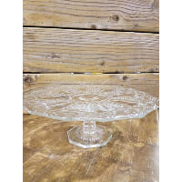 Pedestal - Cut Glass Daisy