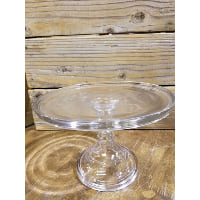 Pedestal - Clear Glass Stand
