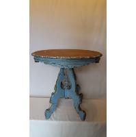 End Table - Brown Top Blue Leg