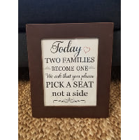 Sign - Brown Frame Pick a Seat