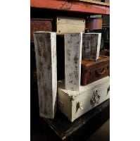 Stand - Short White Wood Distressed Box
