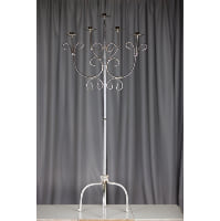 Candelabra - Silver Tall Floor Five Candle