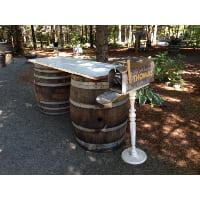 Mailbox - White post standing