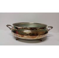 Silver - Footed Cauldron with Handles