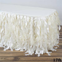 Skirt - Ivory curly ribbon table
