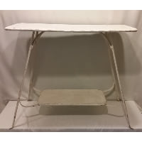 Table - Metal White Skinny Rectangle