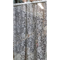 Lace - Light Blue Flower Curtain Panel